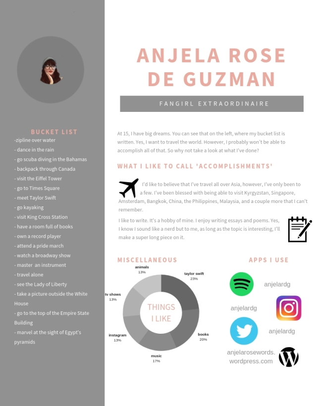 Greyscale Photo Infographic Resume